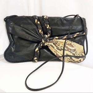 VTG 7 Handbags by Dimitri Leather/Python Purse